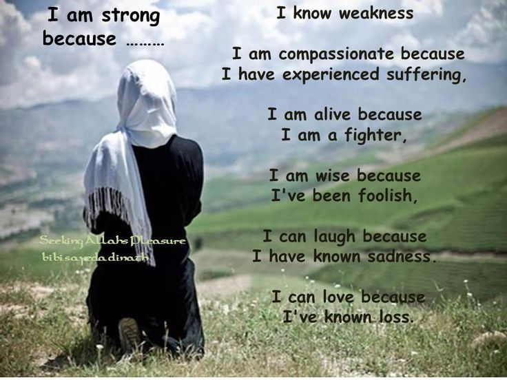 woman -i am strong because