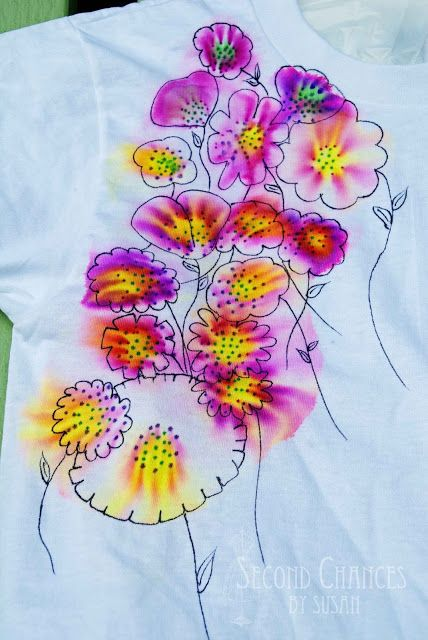 """Tie Dye"" T-Shirts using Sharpie Markers"