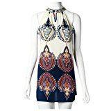 Amazon Angebot Rcool Neue Damen ärmellos Blume locker lässig Partykleid Streifen Chiffon RockAmazon Angebot