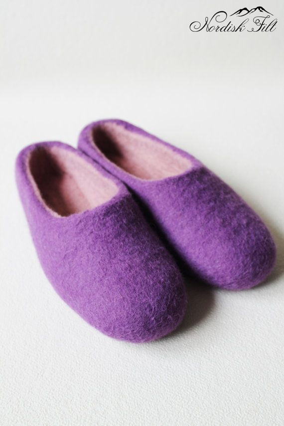Felted woman wool slipper-warm house shoes-made to order