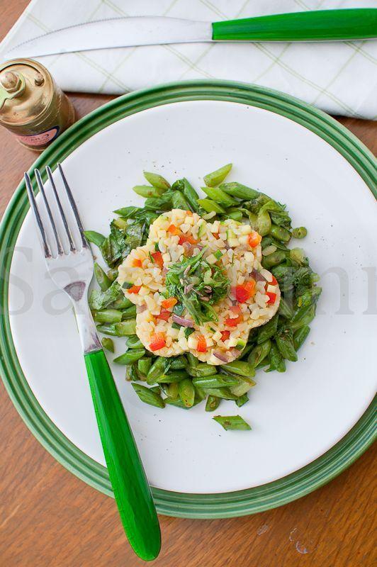 Bulgur alle verdure su letto di lattuga e fagiolini + altre ricette con bulgur