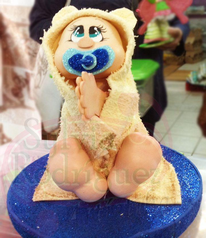 Hermosos bebé realizado en Goma Eva en 3D