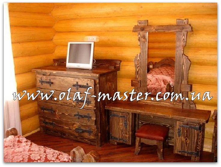 Интерьеры из дерева под старину (состаренная мебель и декор)