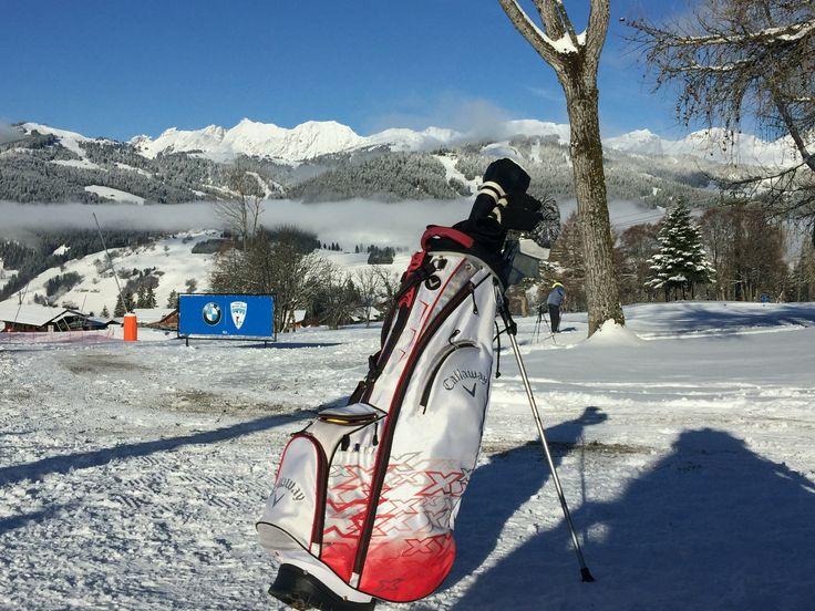 Golf du mont d'arbois à Megève à l'occasion du BMW Wintergolf