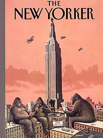 Walk in New York: THE NEW YORKER - Empire State Building - January 23, 1995 by Bruce McCall