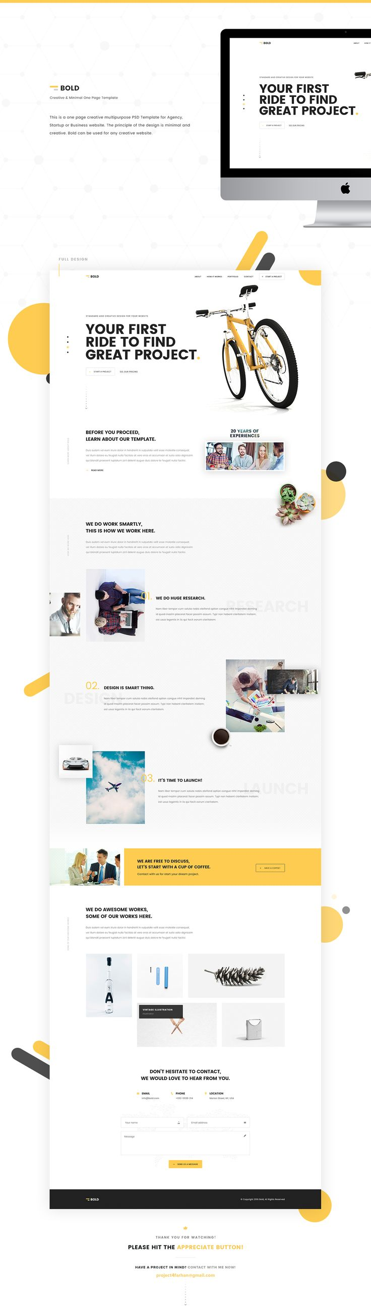 This is a one page creative multipurpose PSD Template for Agency, Startup or…
