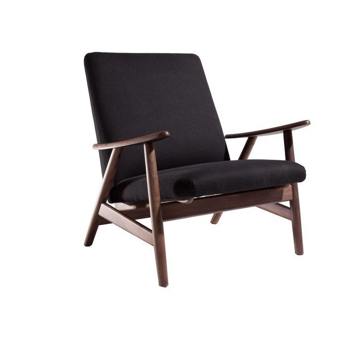 Hans Andersen Home GE-260 Brown/Black Wood Lounge Chair (GE-260 Lounge Chair) (Polyester)