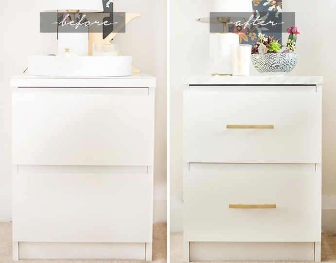 Ikea Malm End Table DIY. Do this in black for your room.