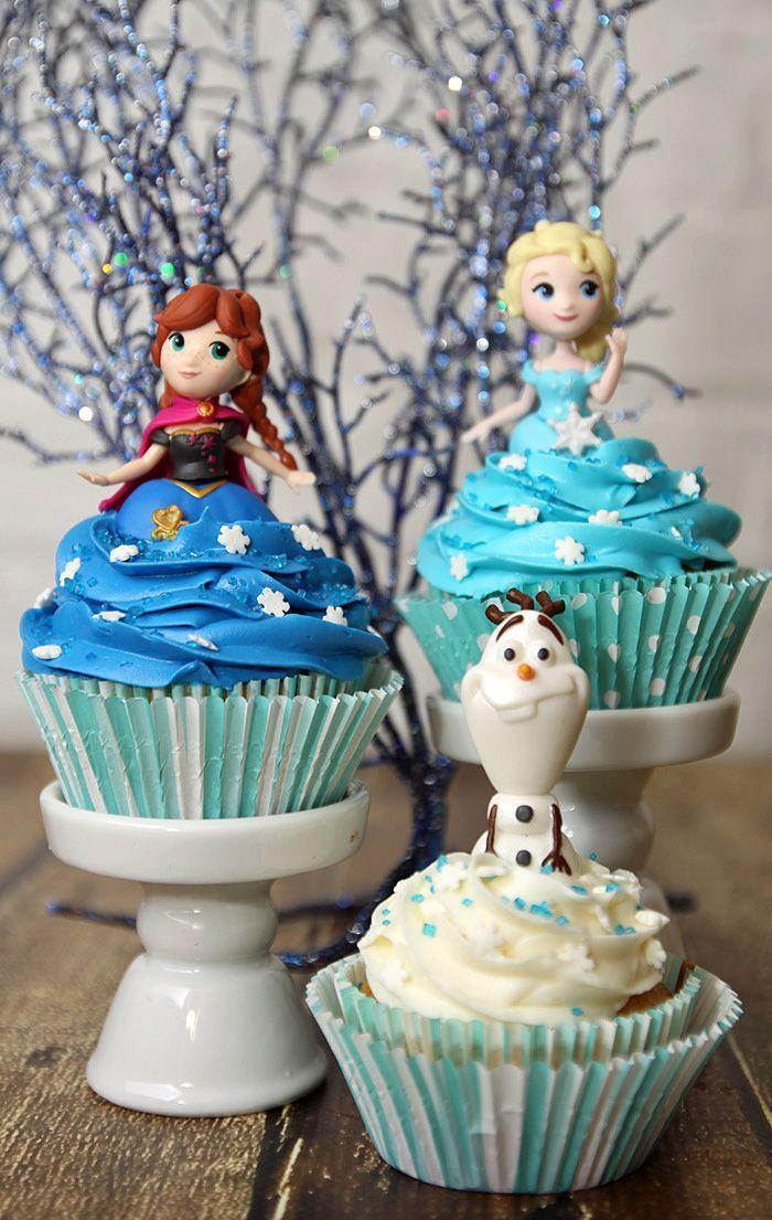 Easy Diy Fun Frozen Cupcakes Idea Frozen Cupcakes Frozen