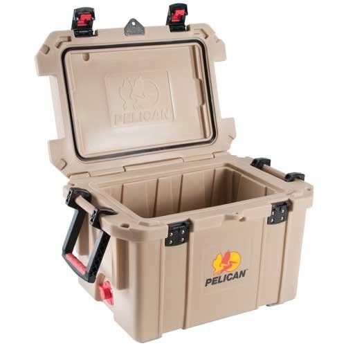 Pelican ProGear Elite Marine Deluxe Cooler with 2-Inch Insulation, Tan, 45-Quart - OMJ Outdoors