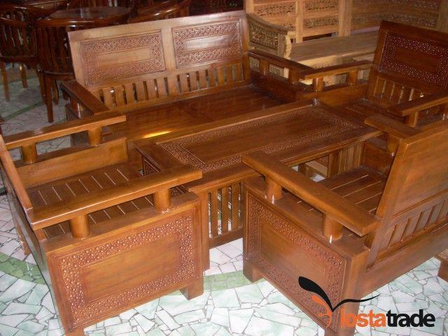 kursi tamu minimalis bahan kayu jati murah antik dan unik