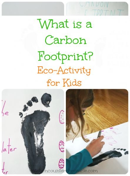 What is A Carbon Footprint? Teach kids about this environmental issue and discover easy ways to reduce your carbon footprint. Science for kids and an art project too. Great eco kid activity.