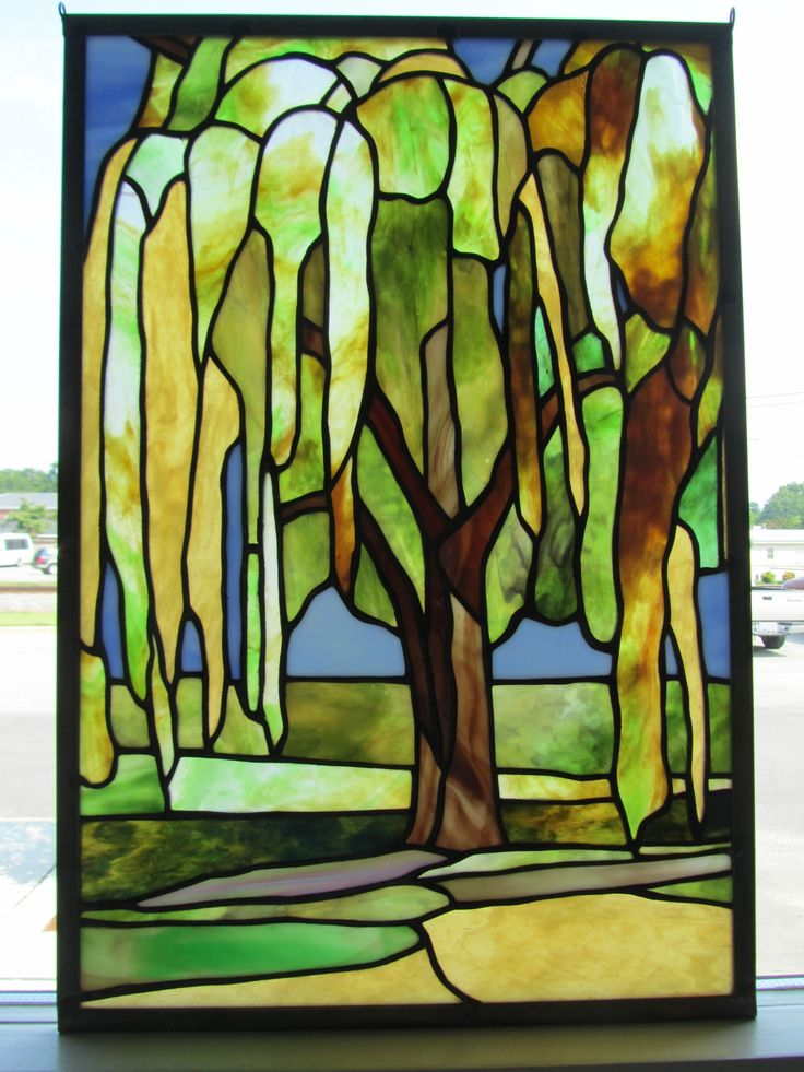 Best stained glass trees images on pinterest