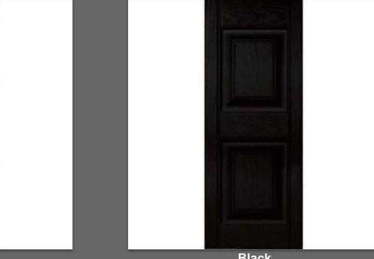 Shutters 66799: Raised Panel Exterior Vinyl Shutters 43 Master Shutters Lifetime Warranty Black -> BUY IT NOW ONLY: $52.99 on eBay!