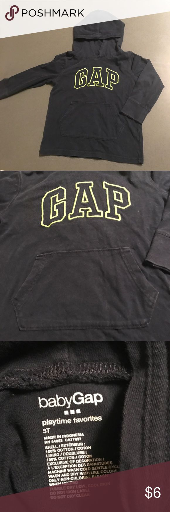 Baby Gap boys 3T navy blue thin cotton hoodie Baby Gap boys thin cotton hoodie. 3T. Super cute, excellent condition. Check out the other items and build a lot! Lots of items stuff ❤️ GAP Shirts & Tops Sweatshirts & Hoodies