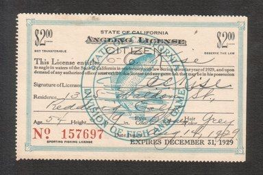 California fishing licenses state of california angling for California state fishing license