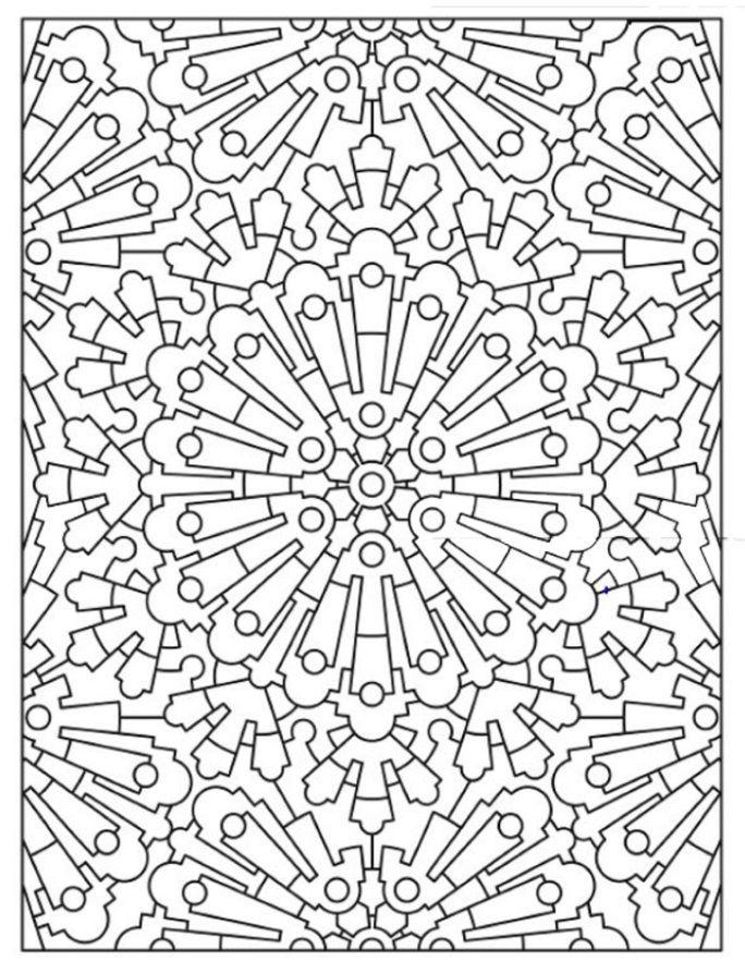 mandala 628 creative haven mandala madness coloring book dover publications