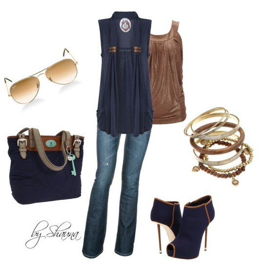 outfits outfitsShoes, Fashion, Style, Blue, Clothing, Closets, Outfit, Wear, The Navy