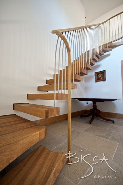 Best Bespoke Oak Cantilever Staircase Yorkshire Staircase 640 x 480