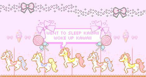 went to sleep kawaii - woke up kawaii