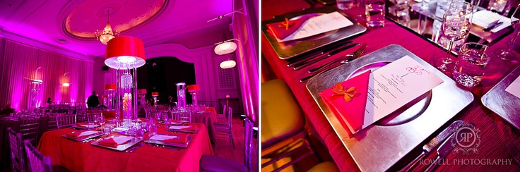 Gorgeous purple uplighting for receptions! A must!!!