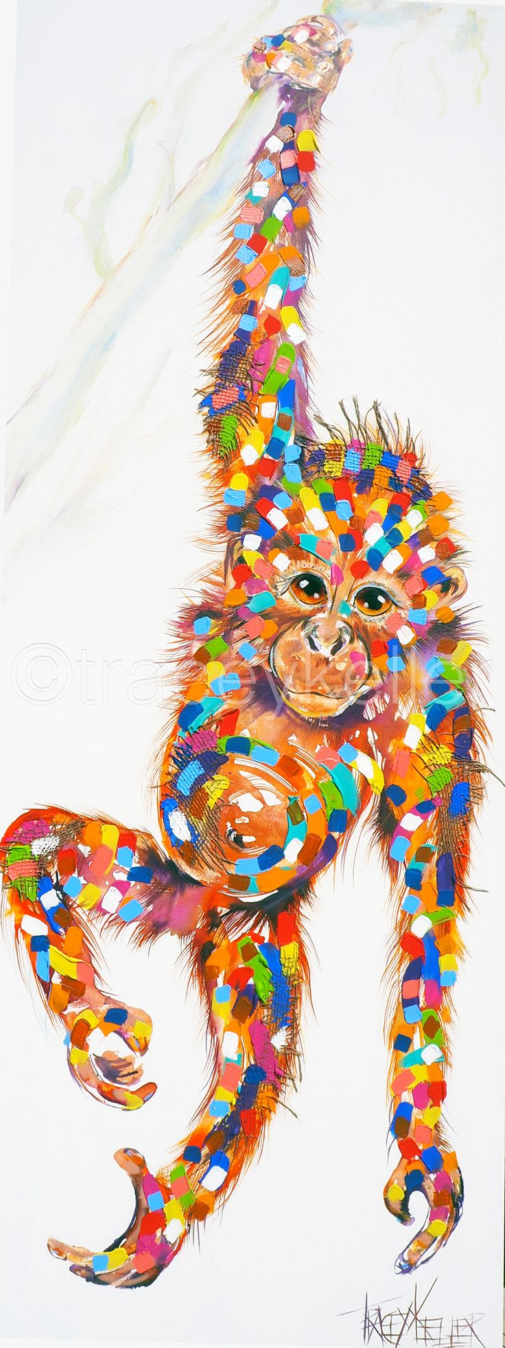 Judith's Ape monkey painting tracey keller