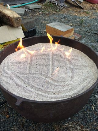 another instructables sand fire pit