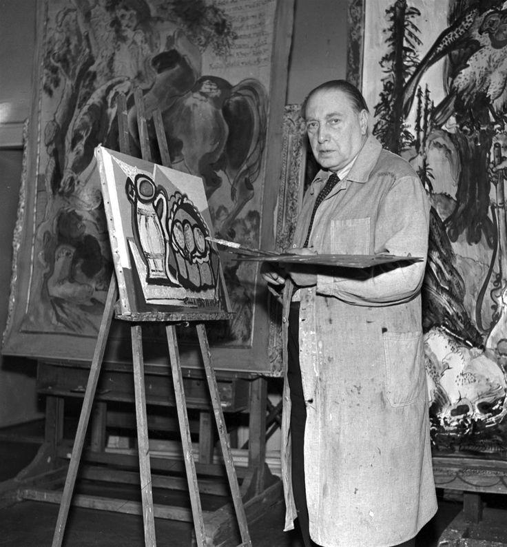 Emil Filla, český malíř a grafik (1882-1953) na snímku z roku 1951.