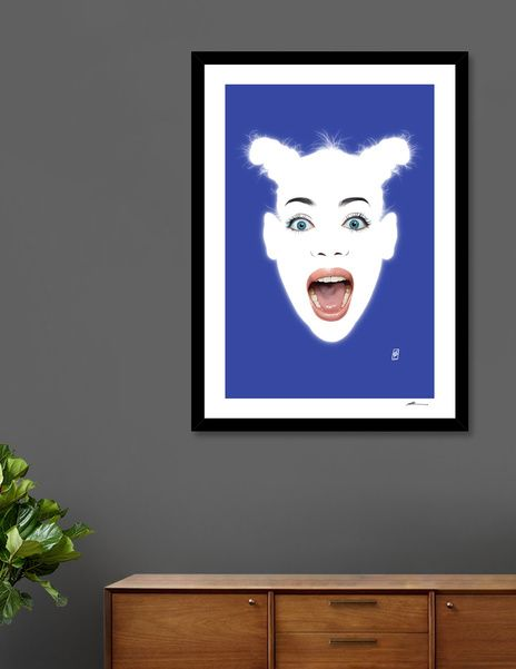 Discover «Glowing - Siobhan», Numbered Edition Fine Art Print by rob art | illustration - art | decor | wall art | inspiration | contemporary | home decor | idea | humor | gifts