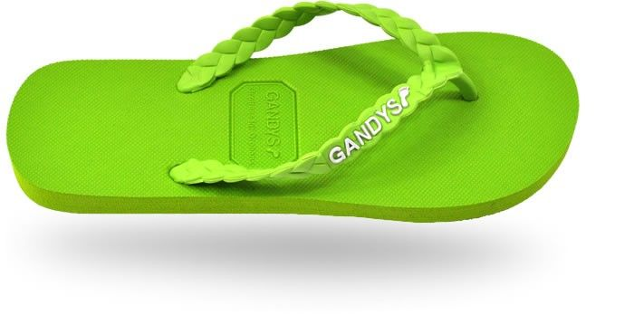 Gandys Originals Flip Flops - Goa Green