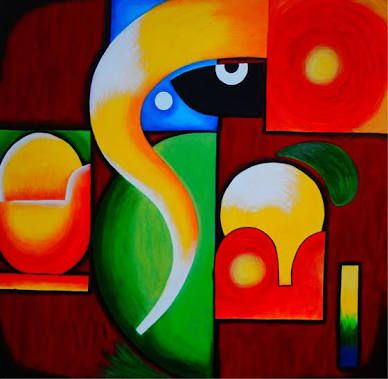 abstract paintings lord ganesha
