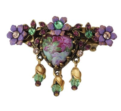 Michal Negrin Jewelry Flower Hair Brooch Accessories
