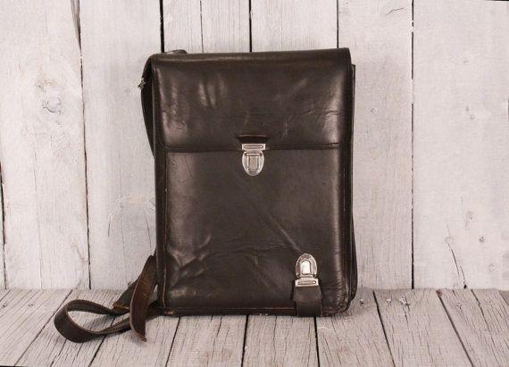 Vintage Soviet Army Bag, USSR Military Bag, Soviet Officer Uniform Bag Model WW 2, Vintage Russian Soviet Army Bag, map bag USSR