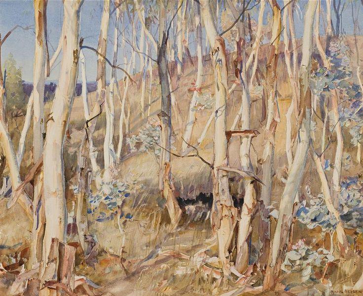 Hans Heysen Saplings, 1923 43.0 x 53.5 cm watercolour on paper