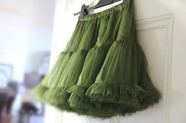 TUTU tulle petticoat underskirt crinolene GREEN ballerina frilly underskirt flowergirl gothic ROMANTIC wedding skirt Bridesmaid steampunk by footfetishsocks on Etsy