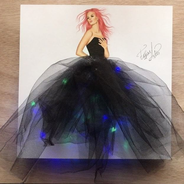 The lighting dress Hope you like it guys. I am so grateful to you. I feel your positive energy. And it motivates me to create more and more.❤❤❤❤❤