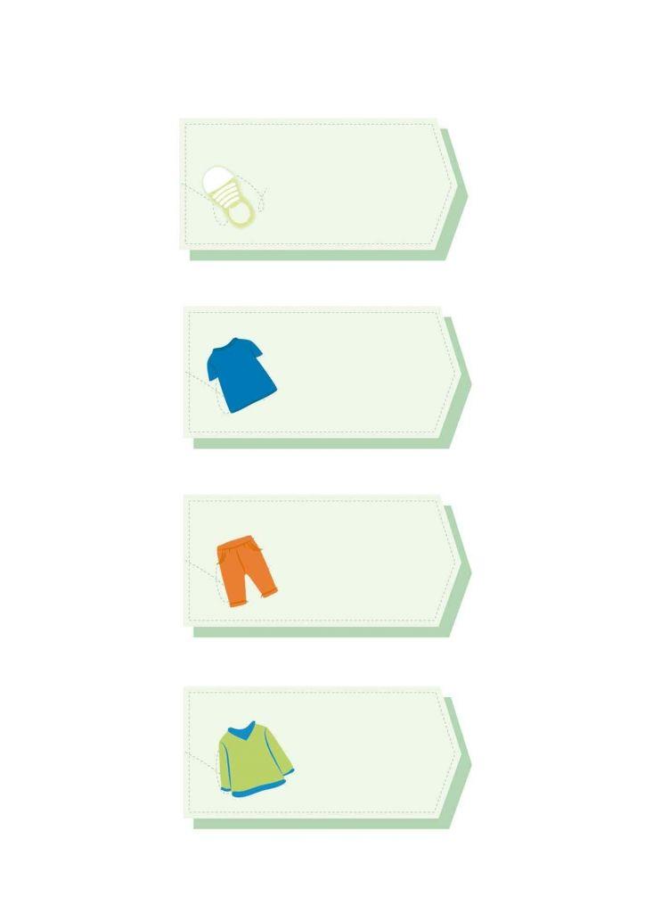 free printable: etichette per cambio stagione armadio a forma di tag