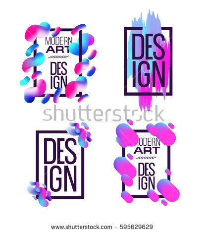 Vector frame for text and labels in the style of Modern Art graphics for hipsters background paint, design element for design business cards, invitations, gift cards, flyers and brochures