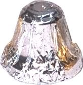 A 1kg bag of Foiled Chocolate Bells Silver.
