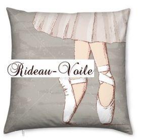 rideau#housse#de#couette#coussin#danseuse#tissu#ameublement#classique#cadeau#personnalisé#motif#imprimé#chausson#pointe#rose#tutu#justaucorps#rose#