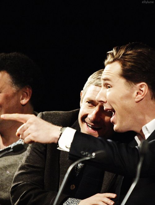 """I look at him as an only-slightly-older brother. He'd hate me to call him my older brother."" — Benedict on Martin"