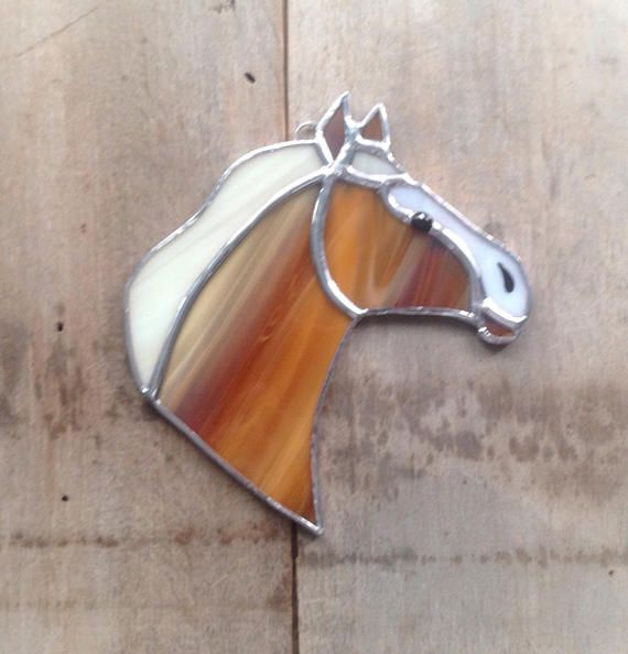 Pin On Stained Glass Horse