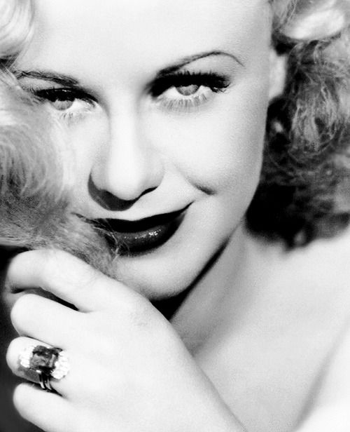 I can't quite get over how beautiful Ginger Rogers is on this picture