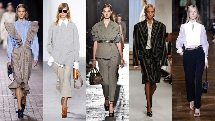 TRENDY WIOSNA LATO 2017 – MODA DAMSKA - inspiracje męską garderobą