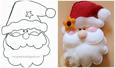 Kerstman patroon Zelf maken uit vilt? Kijk voor vilt eens op http://www.bijviltenzo.nl