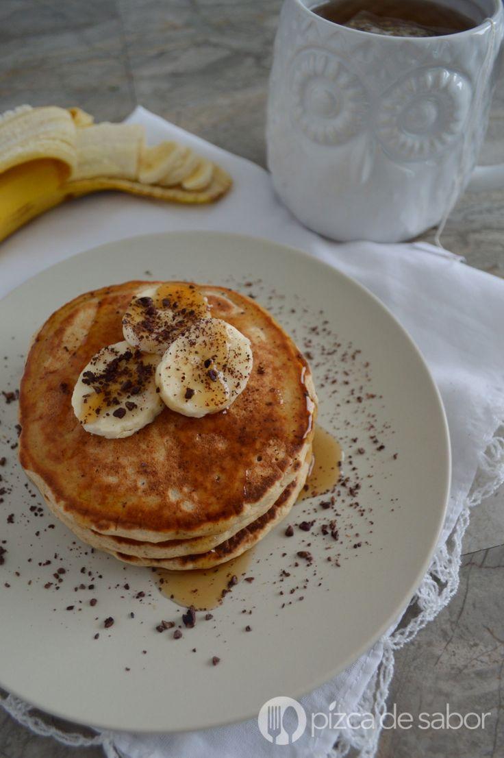 Hot cakes de avena (panquecas)