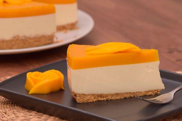 Receta De Cheesecake De Mango Sin Horno Cocina Vital Qué Cocinar Hoy Receta Postres Fríos Cheesecake De Mango Cheesecake Recetas