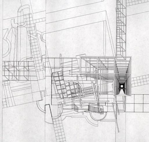 Peter Eisenman, Wexner Center for the Arts, Collage