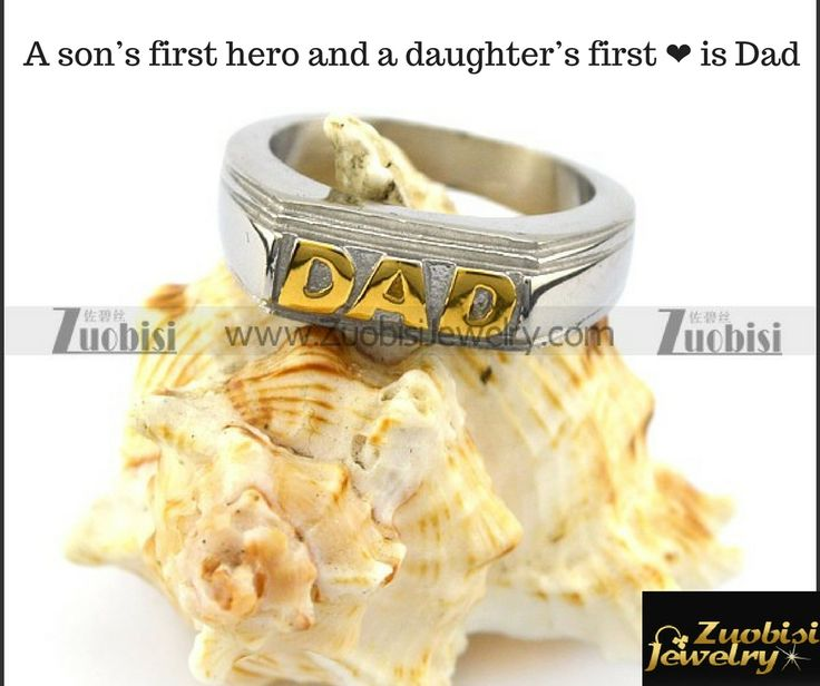 A son's first hero and a daughter's first ❤ is Dad. Find your father's love here at #Zuobisijewelry  and don't forget to bring a little smile on his face who is the real hero of your life through this beautiful #GoldenDadStainlessRing  Pop-up @