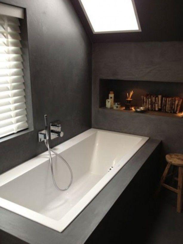 Moderne #badkamer met nis